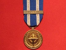 FULL SIZE NATO BALKANS MEDAL WITH BALKANS CLASP