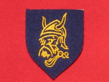 BRITISH ARMY 56TH ARMOURED DIVISION LONDON FORMATION BADGE VIKING HEAD BADGE 1947 1950
