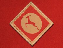 BRITISH ARMY 13 CORPS FORMATION BADGE WW2 RED GAZELLE BADGE