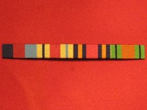 1939 1945 STAR AND AFRICA STAR AND BURMA STAR AND DEFENCE MEDAL WW2 RIBBON BAR SEW ON BAR