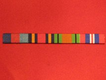 1939 1945 STAR AND BURMA STAR AND DEFENCE MEDAL AND END OF WAR WW2 RIBBON BAR SEW ON BAR